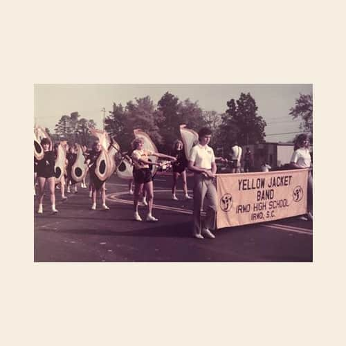 Irmo high band okra strut parade 1984