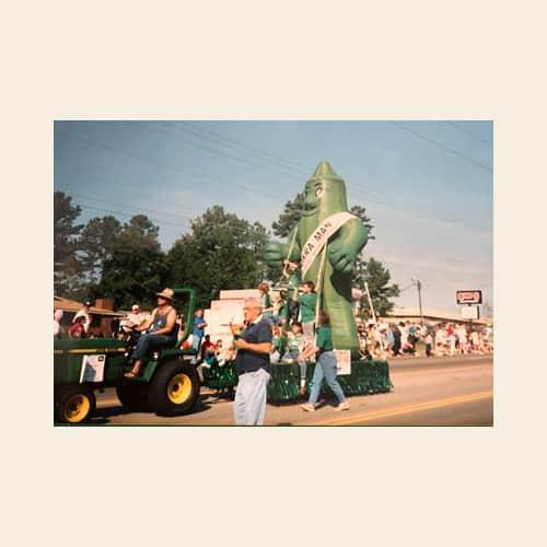 Okra Man 1988 parade Irmo Okra Strut