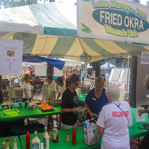 Provide Hot Food to the crowds at the Okra Strut